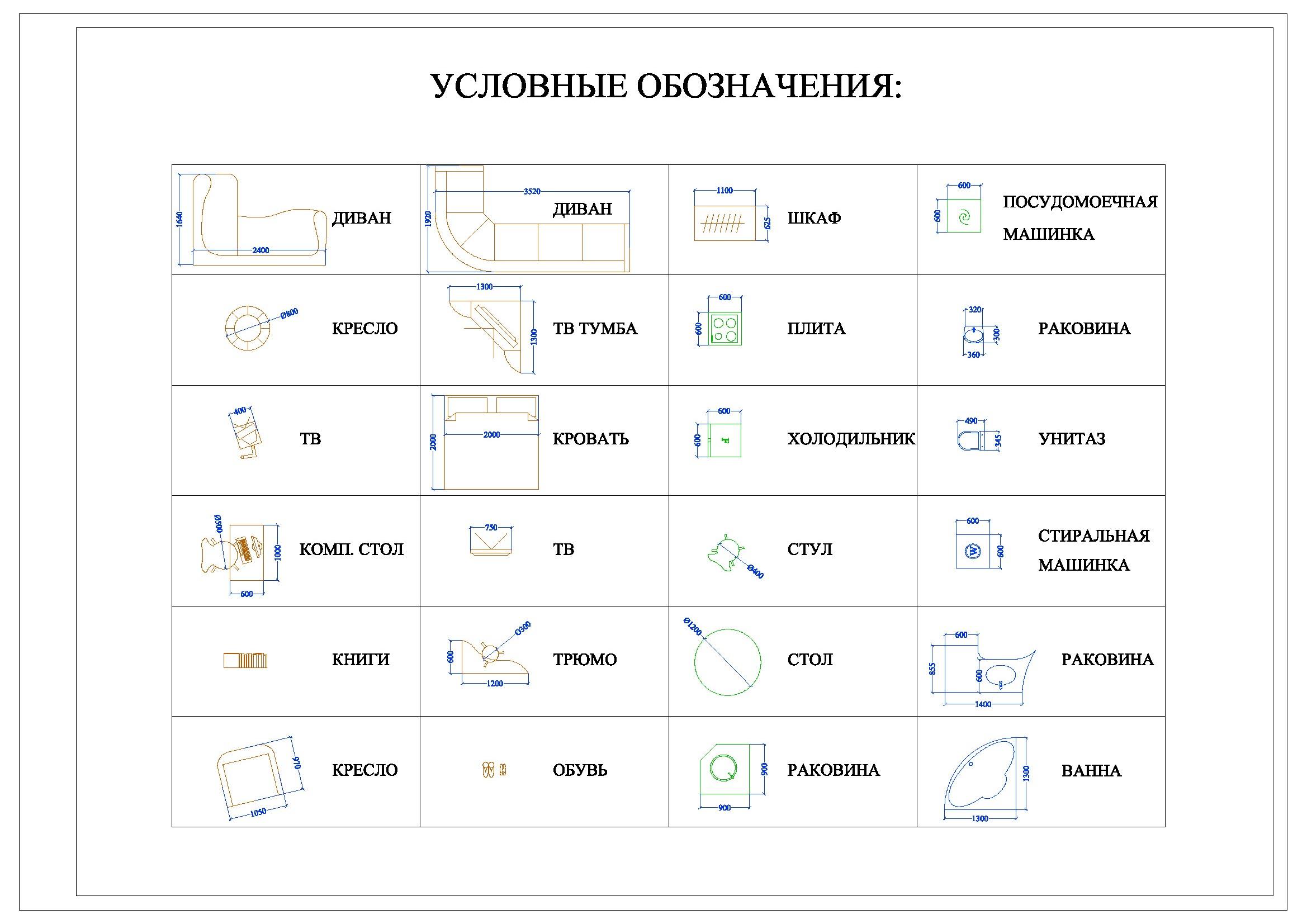 Обозначения условные графические в схемах светильников